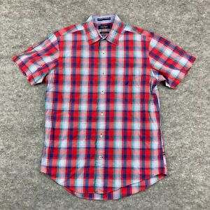 Nautica Mens Button Up Shirt Size S Multicoloured Check Short Sleeve 71.19