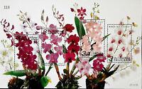 THAILAND STAMPS  ORCHID FLOWERS SOUVENIR SHEET S/S