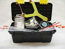 Fishing Tackle Box & Tackle Hooks Catapult Floats Shot Disgorgers
