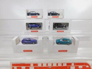 CA271-0, 5 #6x wiking 1:87/H0 Car VW / Volkswagen: 055 Vento +051/052 Golf Top