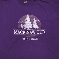 VTG MACKINAW CITY MICHIGAN NATURE WILDERNESS SINGLE STITCH USA MADE T SHIRT XL