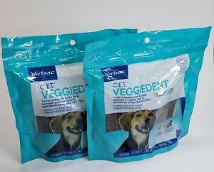 Virbac C.E.T Veggiedent Tartar Control Chews- Z-shape 60 Chews Med-  2- packs
