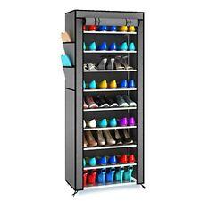 Diy Shoe Rack W Cover 10 Tier Shoes Cabinet Storage Organizer Coffee Wine