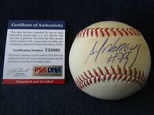 Jose Abreau Autographed & Game Used OML (Selig) Baseball - PSA & MLB Cert