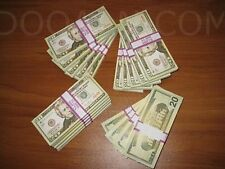 Prop Money Movie Motion Picture $2,000 Bundle $20 Bills Filler Blank Processed 2