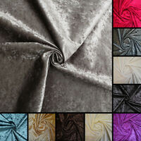 luxury soft plain heavy weight cotton crushed pure velvet upholstery fabric ebay. Black Bedroom Furniture Sets. Home Design Ideas