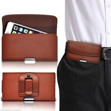 Horizontal Belt Clip Quality Pouch Holster Top Flip Phone Case Holder✔Brown