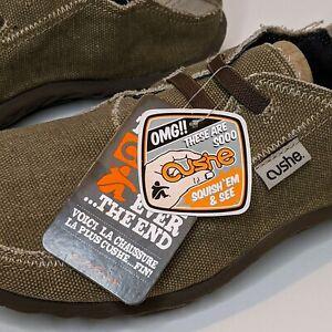 New! Cushe Men Slip On Moc Slippers Sand Frayed Hem Moc Toe Low Top US 10 EUR 43