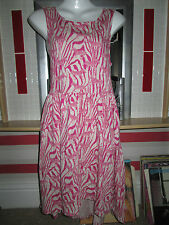 H&M  Pink Animal Print coloured Sleeveless Mini dress size euro m