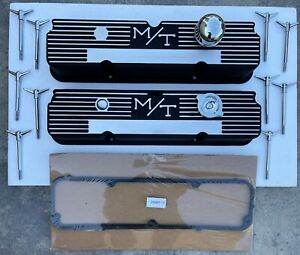 FORD Mickey Thompson M/T 360 390 427 428 Aluminum Finned VALVE COVERS 103R-56