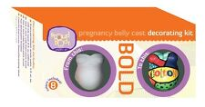 ProudBody Pregnancy Belly Cast DECORATING KIT - BOLD Blue Red Yellow Green Paint