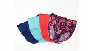 Jockey No Panty Line Promise Brief Set of 4 Paisley NEW Size 7