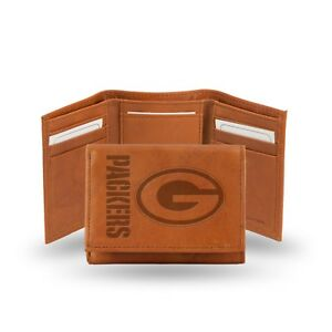 Green Bay Packers NFL Embossed Leather Trifold Wallet