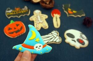 1 Halloween Cookie Cutter Bat Ghost Spider Skeleton Pumpkin Skull - Uk Seller