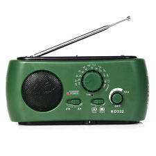 Mini FM/AM/ Radio Funk-Solar-Taschenlampe+Notfall-Ladegerät USB oder Micro-USB