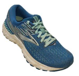 Brooks Adrenalin GTS 19 Womens 6.5M Blue Running Walking Athletic Shoes #Z