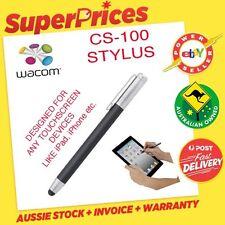 NEW WACOM BAMBOO STYLUS PEN CS-100 BLACK APPLE iPAD/iPHONE/SAMSUNG TOUCH TABLET