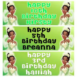 PRINCESS TIANA Personalised Birthday Banner - Tiana Birthday Party Banner