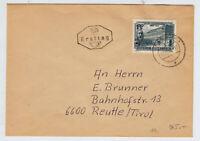 ÖSTERREICH 1953 ERSTTAG-BRIEF, INNSBRUCK nach REUTTE (Tirol)