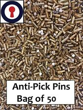 Euro Cylindre jante cylindre Re-épingler Anti-pick PINS X 50 Sac 2.8 mm 1st p&p