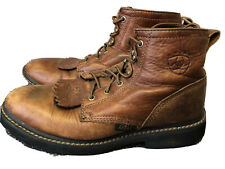 Ariat ATS 31080 Women's 9 B Brown Leather Lace Up Kiltie Roper Ankle Boots