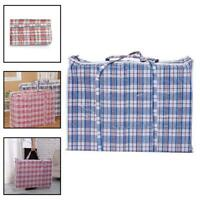 Reusable Large Jumbo Laundry Bags Zipped Strong Shopping Storage Bag Pouch Home