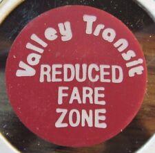 1983 Valley Transit Appleton, WI Red Plastic Bus Token - Wisconsin Wisc.