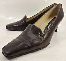 Peter Kaiser Wos Shoes Heels US 9.5 UK 7.5 Brown Leather Slip-on Work Wear 5803