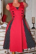 (S3) Hance REE Elástico Rojo Cuerpo Ajustado una línea Falda Damas Vestido Talla M