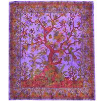 Tages-decke Tree of Life Lebensbaum Wandbehang Bett-überwurf Deko-Tuch Yoga Goa
