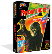 Friday the 13th NES Reproduction Game Case Box + Cover Art Work (No Game)