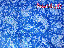 Indian 100 Yard Indian Hand Block Print Women Suite Paisely Craft Running Fabric