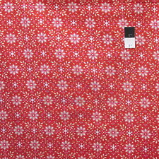 Dena Designs PWDF237 Merry Mistletoe Annaya Red Cotton Fabric By Yard
