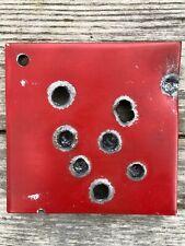Beschusstest Panzerplatte - Briefbeschwerer