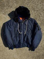 Vintage Rare 80s Botany 500 Korean Osan War Aviator Style Coat Jacket OSFA