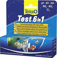 Tetra Water tiras de prueba 6 En 1 Ph nitrito, nitrato, carbonato Gh chrlorine