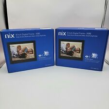 "Nix X08E 8"" Digital Photo Frames with motion sensor both included"