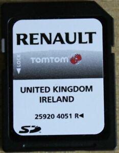 GENUINE RENAULT TOMTOM NAVIGATION SAT NAV SD UK & IRELAND 259204051R