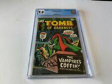 TOMB OF DARKNESS 12 CGC 9.0 VAMPIRE COFFIN UNDEAD MARVEL COMICS 1975