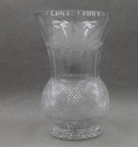 "Edinburgh Crystal Thistle Huge Flower Vase 9 1/2"""