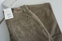 MAC Melanie Damen Jeans stretch fein cord Hose Gr.34 W26 L32 schlamm braun Neu