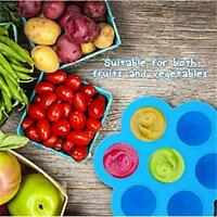 Silicone Folding Food Storage Containers Kitchen Reusable Mold Freezer Tray AL