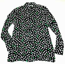 VANS Womens Catalano Long Sleeve Woven Button up Viscose Top Blouse Small