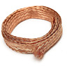 US Stock 20ft 6mm Flat Copper Braid Cable Bare Copper Braid Wire Ground Lead