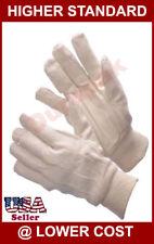 300 Pair Cotton Canvas Work Gloves Men Size Indoor Outdoor Field Hand Protection
