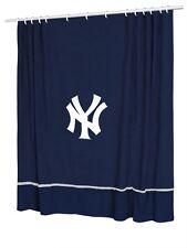 New York YANKEES Jersey Mesh Fabric Shower Curtain