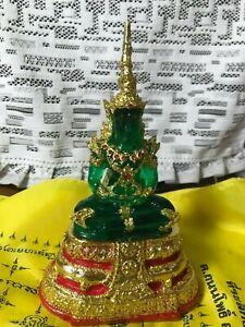 PHRA KAEW MORAKOT SEASONS BUDDHA PROTECT LOVE RICH MAGIC DEVIL GREEN THAI AMULET