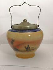 Desert Scene Biscuit Barrel - Entirely Hand Painted - Noritake Nippon Bohemia ?