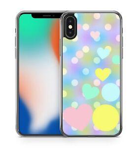Polka Dot Love Heart Covered Fine Multi Coloured Sky Pattern Phone Case Cover