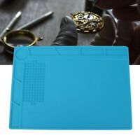 Practical Watchmaker's Blue Plastic Bench Mat Anti-Slip for Watch Jewelry Repair